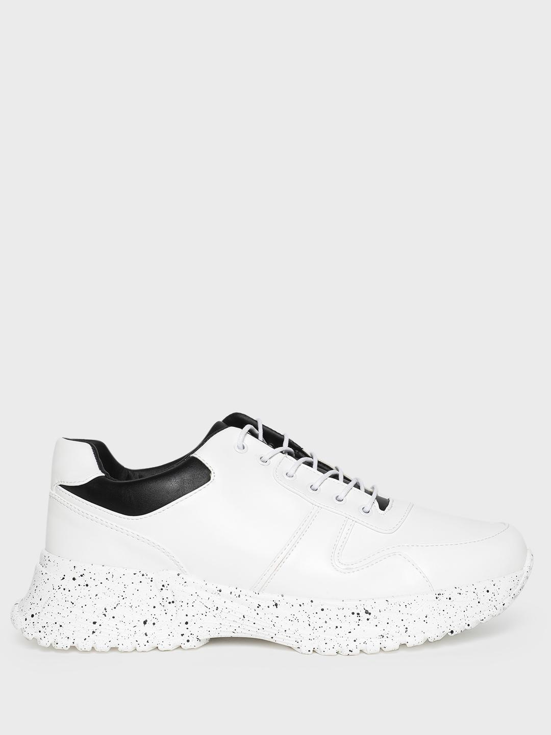 Kindred White Splatter Print Chunky Sole Trainers 1