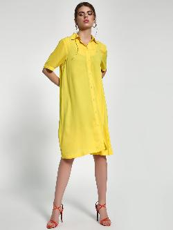 Closet Drama Basic Midi Shirt Dress
