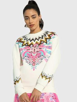 Manish Arora Paris X KOOVS Digital Placement Print Sequin Sweatshirt