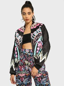 Manish Arora Paris X KOOVS Digital Print Sequin Bomber Jacket