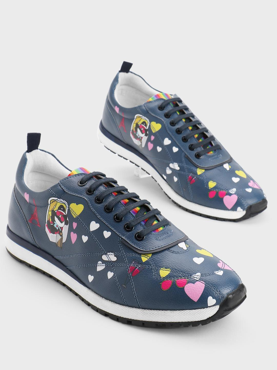 Manish Arora Paris X KOOVS Blue Tuzki Heart Print Trainers 1