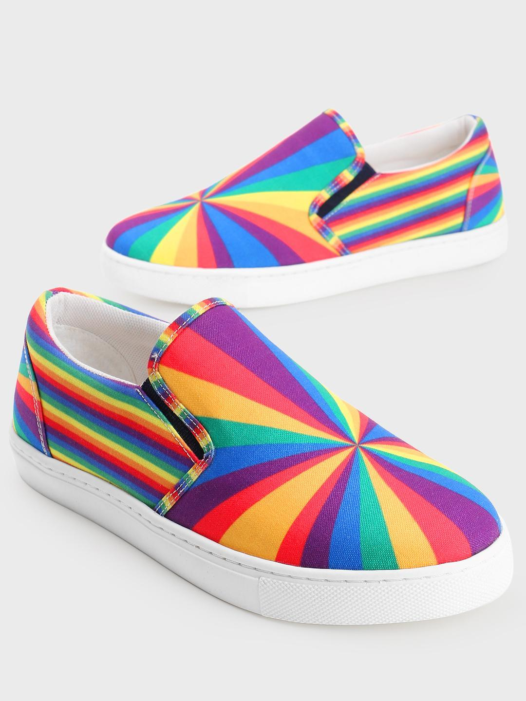 Manish Arora Paris X KOOVS Multi Digital Tuzki Rainbow Print Plimsolls 1