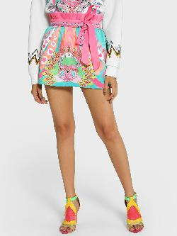 Manish Arora Paris X KOOVS Digital Print Sequin Embellished Mini Skirt