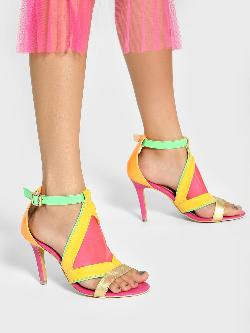 Manish Arora Paris X KOOVS Colour Block Perspex Heeled Sandals