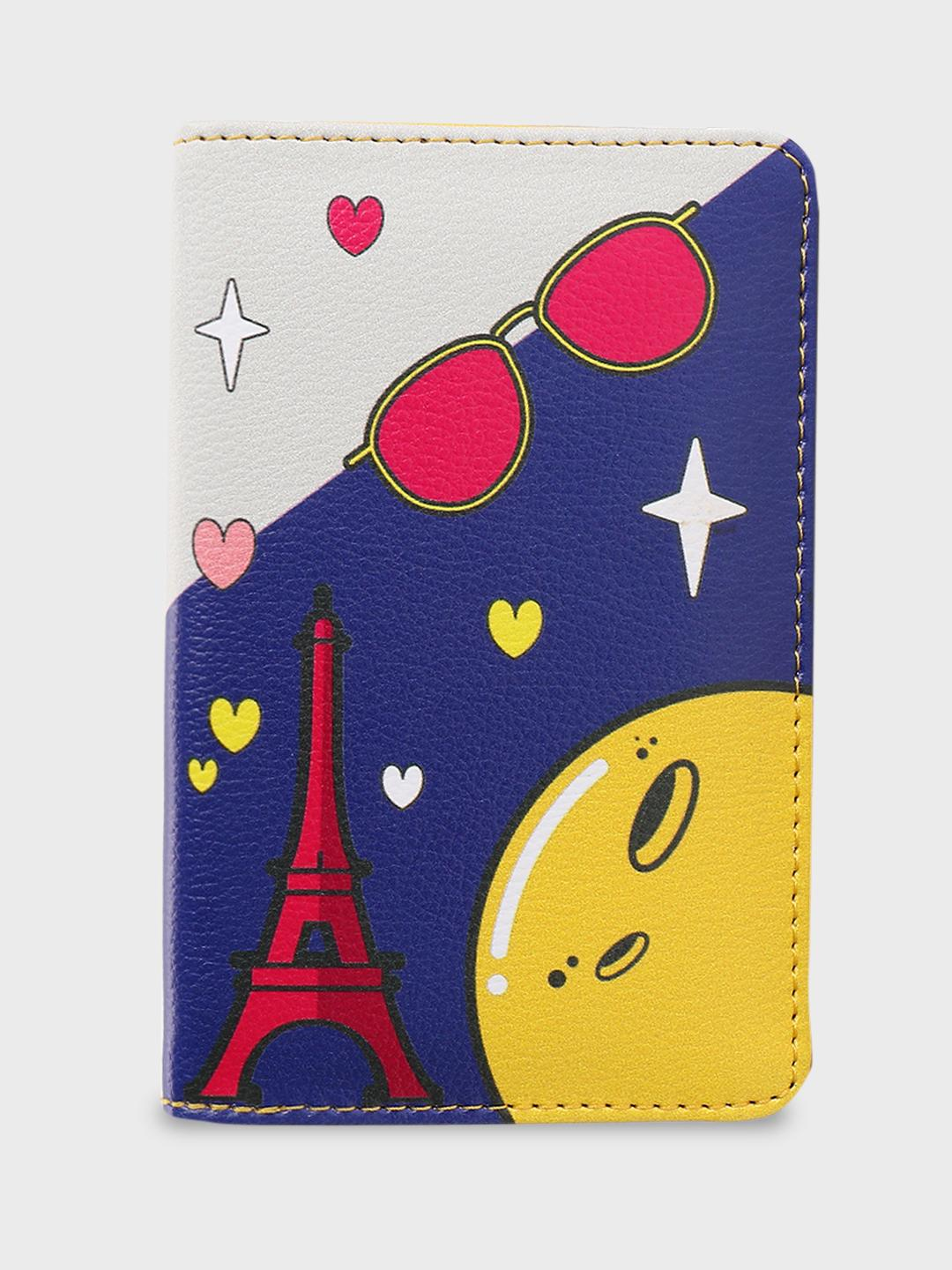Manish Arora Paris X KOOVS Multi Tuzki Print Passport Holder 1