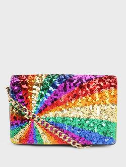 Manish Arora Paris X KOOVS Rainbow Sequin Sling Bag