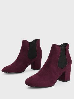 Truffle Collection Suede Heeled Chelsea Boots
