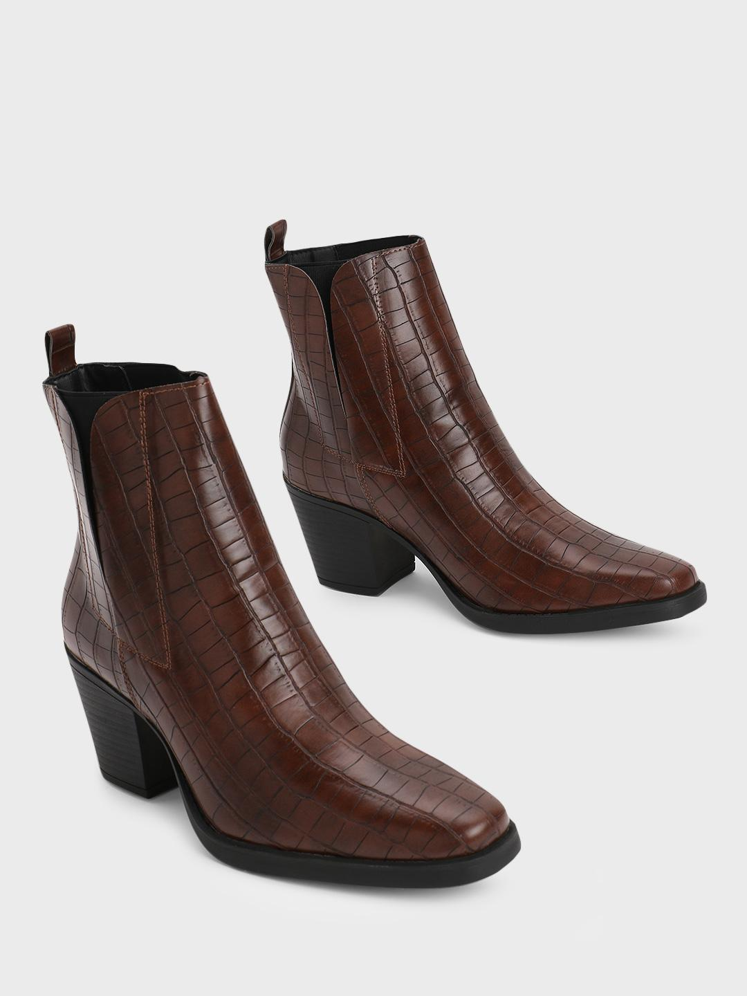 Truffle Collection Brown Pointed Toe Heeled Boots 1
