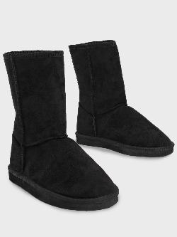 Truffle Collection Suede Calf-Length Boots