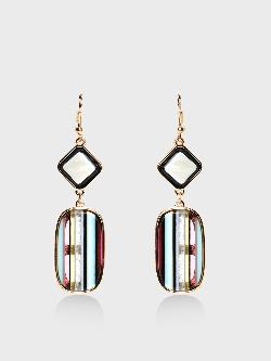 KOOVS Multi Vertical Stripe Earrings