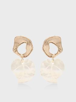 KOOVS Heart Shape Shell Drop Earrings