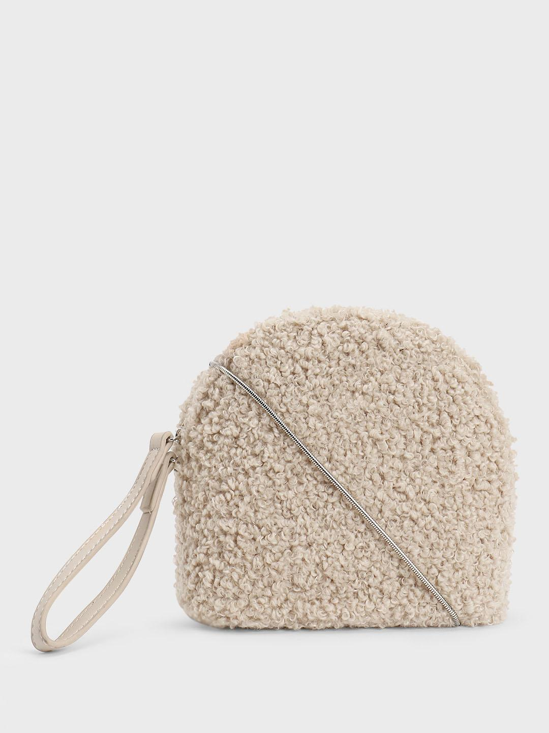 Origami Lily OFFWHITE Furry Sling Bag 1