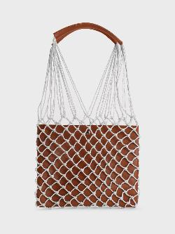 Origami Lily Fish Net Tote Bag