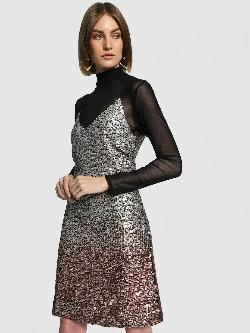KOOVS Ombre Sequin Cami Shift Dress