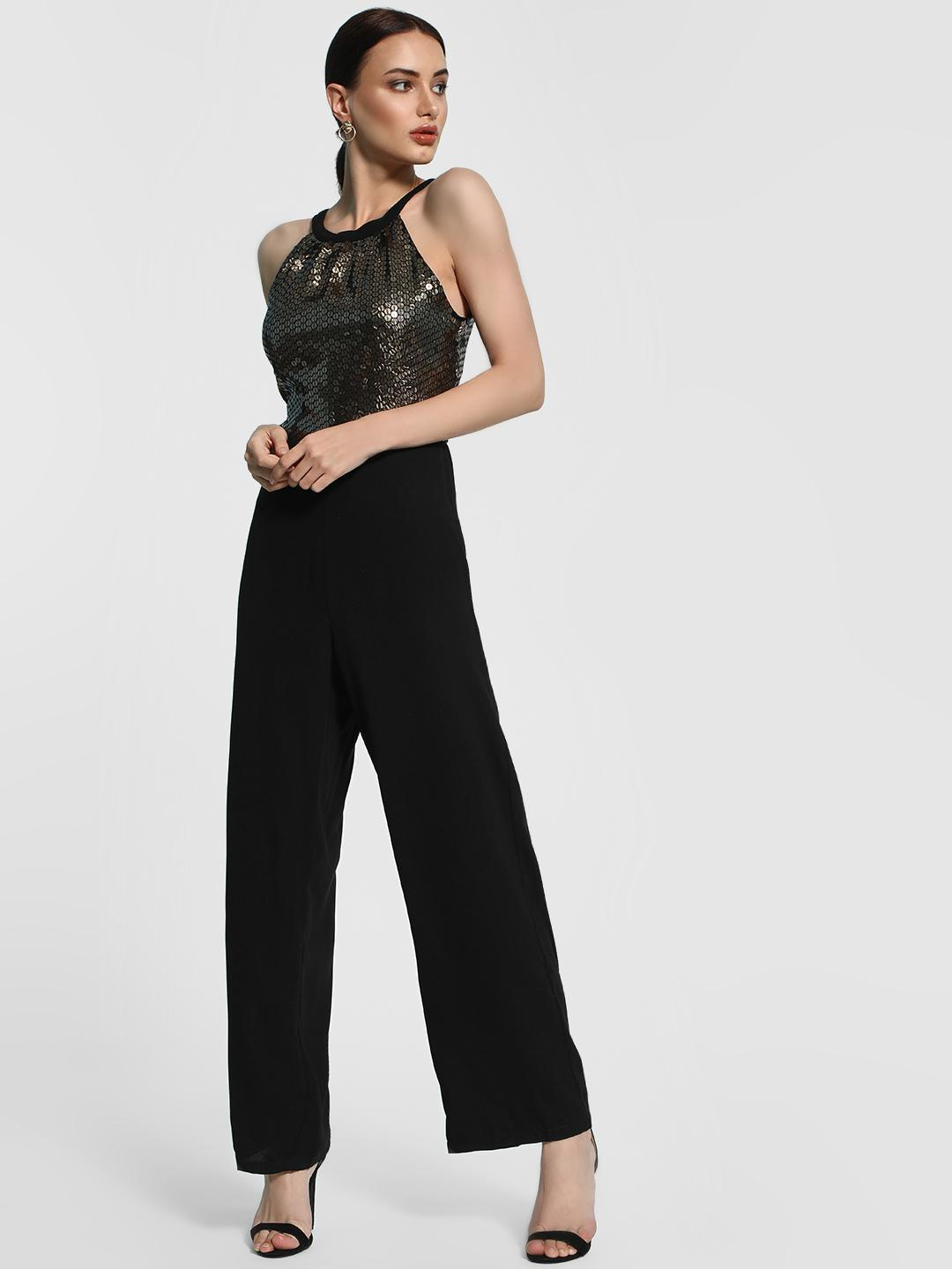 KOOVS Multi Sequinned Round Neck Jumpsuit 1