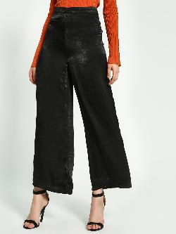 KOOVS Satin Wide Leg Trousers