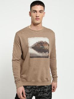 Blue Saint Digital Placement Print Sweatshirt