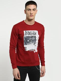 Blue Saint Rebellion Eye Placement Print Sweatshirt