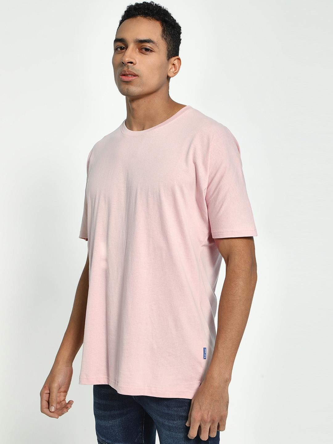 Blue Saint Pink Drop Shoulder Longline T-Shirt 1