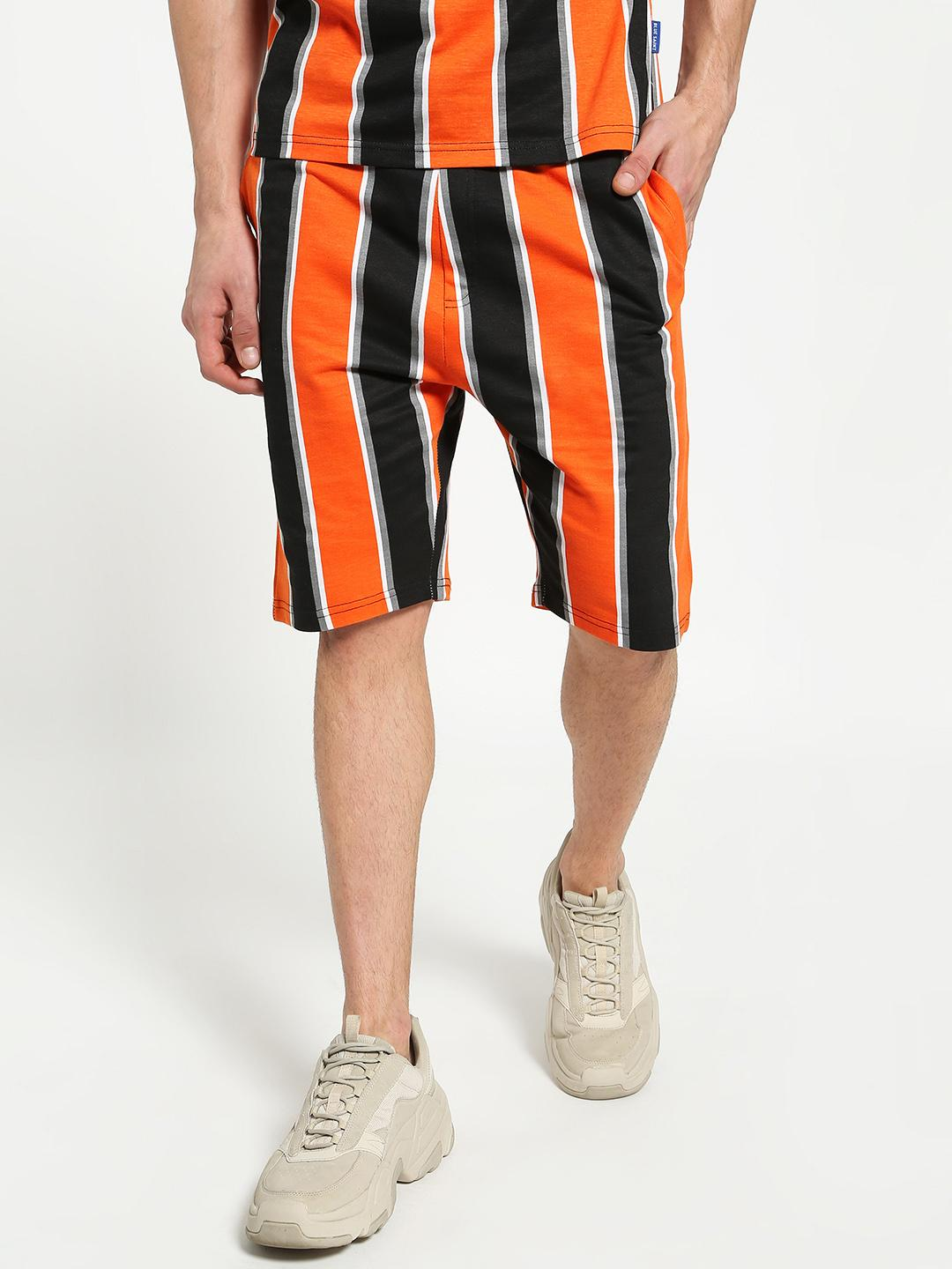 Blue Saint Multi Vertical Multi-Stripe Shorts 1
