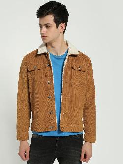 Blue Saint Borg Collar Corduroy Jacket