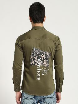 Blue Saint Back Print Long Sleeve Shirt