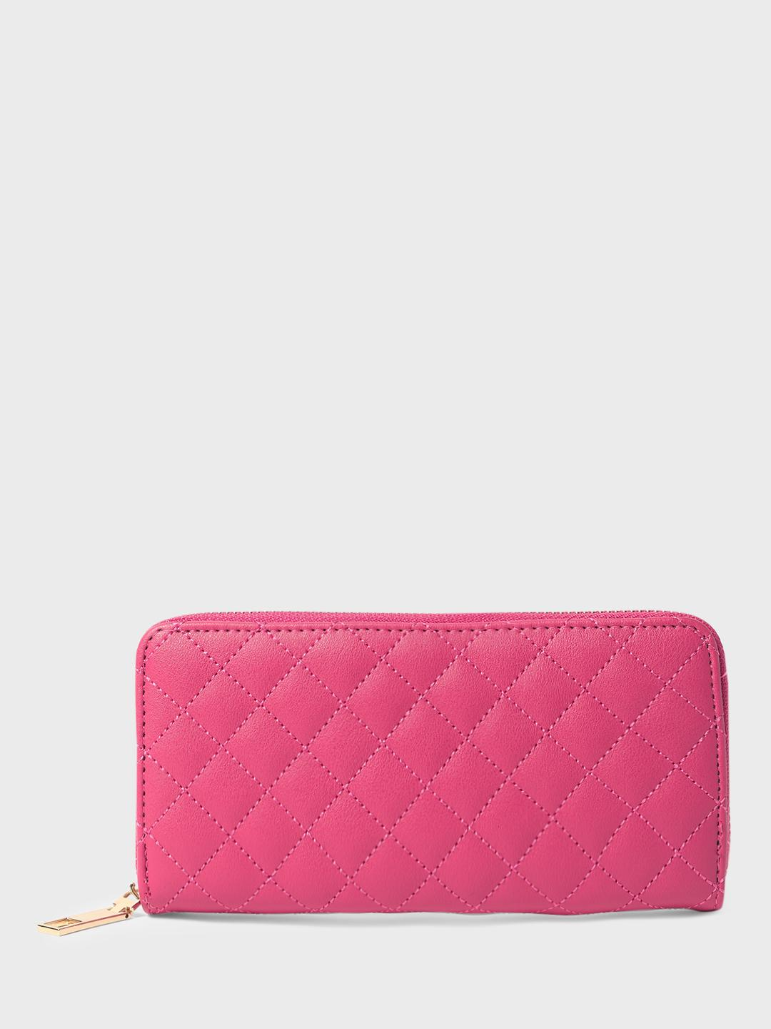 Funky Fish Pink Quilted Wallet 1