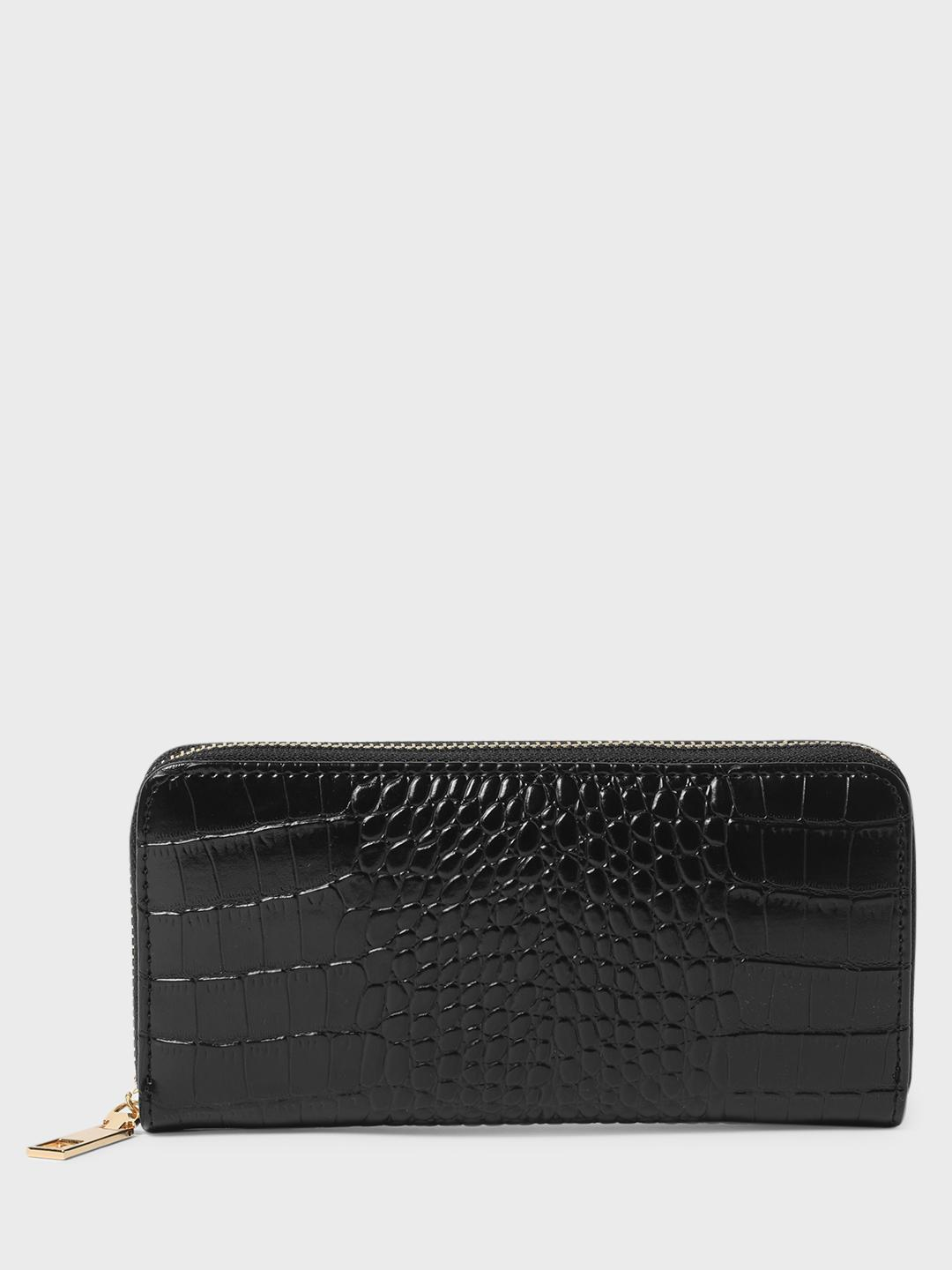 Funky Fish Black Crocskin Wallet 1