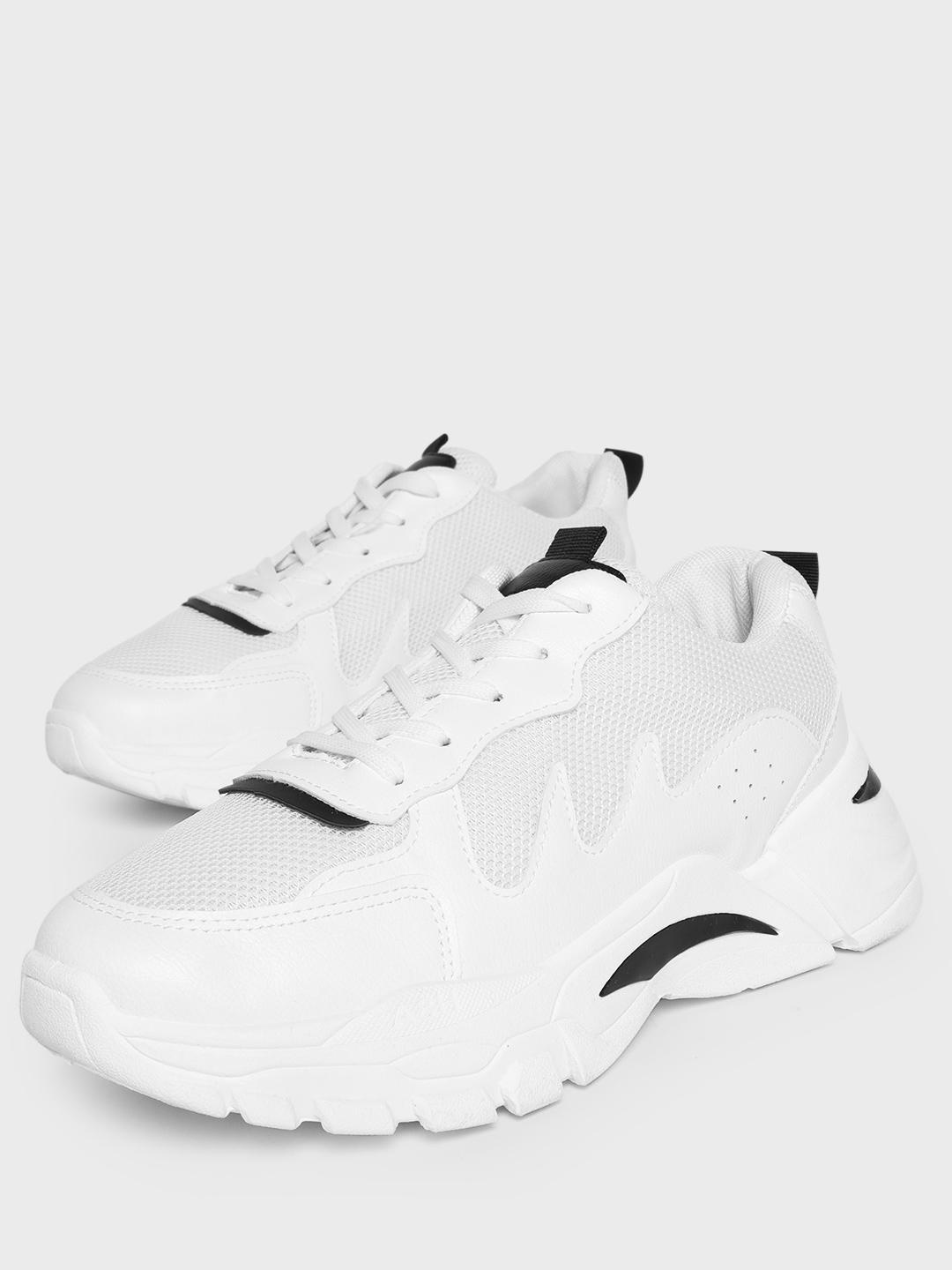 Kindred White Panelled Chunky Sole Mesh Trainers 1