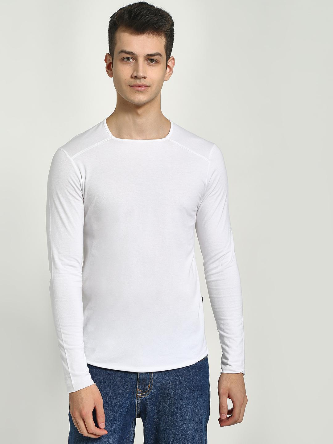KOOVS White Muscle Fit Long Sleeve T-Shirt 1