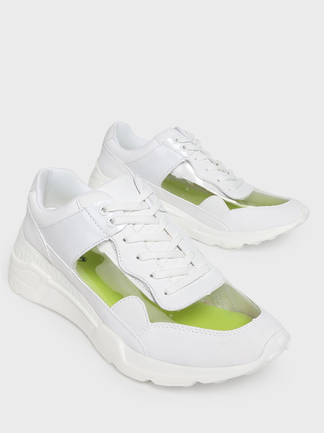 Sole Story White Perspex Chunky Sole Trainers 1