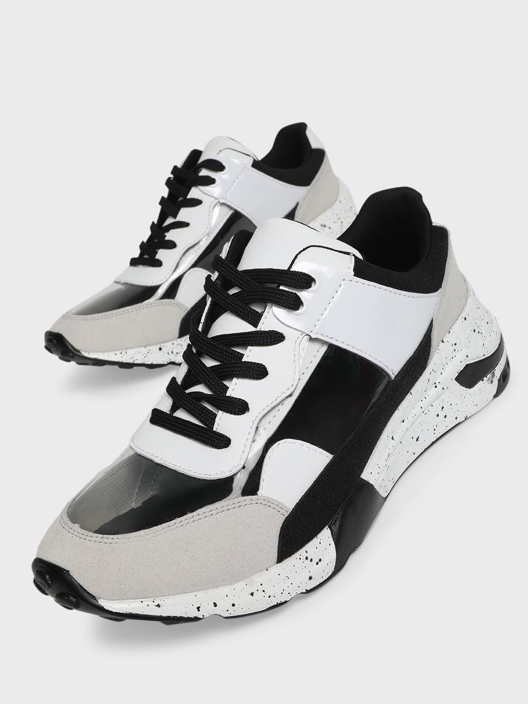 Sole Story Grey Perspex Chunky Sole Trainers 1