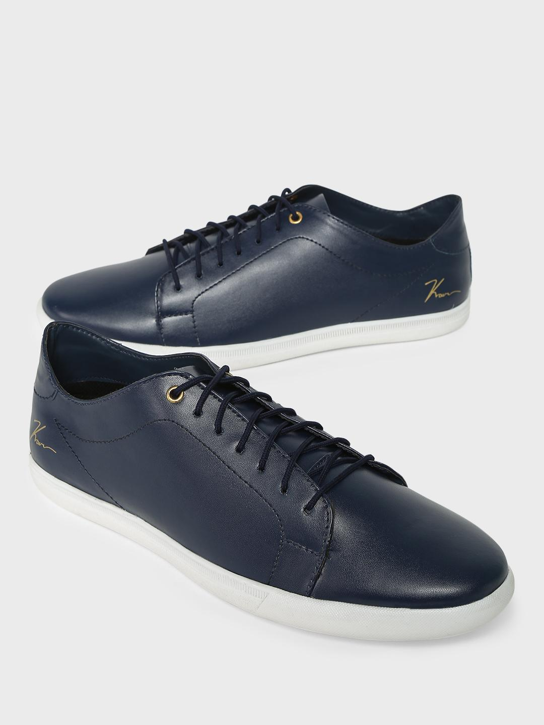 KOOVS Blue Lace-Up Sneakers 1