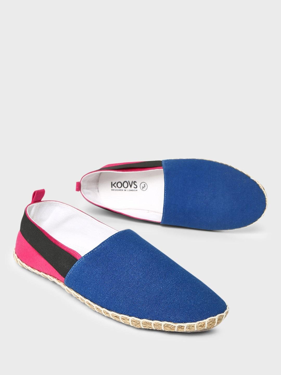 KOOVS Multi Strap Detail Colour Block Espadrilles 1
