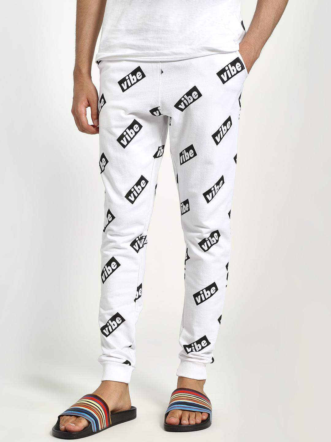 Garcon White All Over Vibe Print Joggers 1