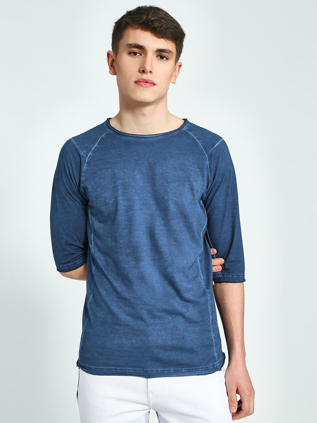 Blue Saint Blue Crew Neck Raglan T-Shirt 1