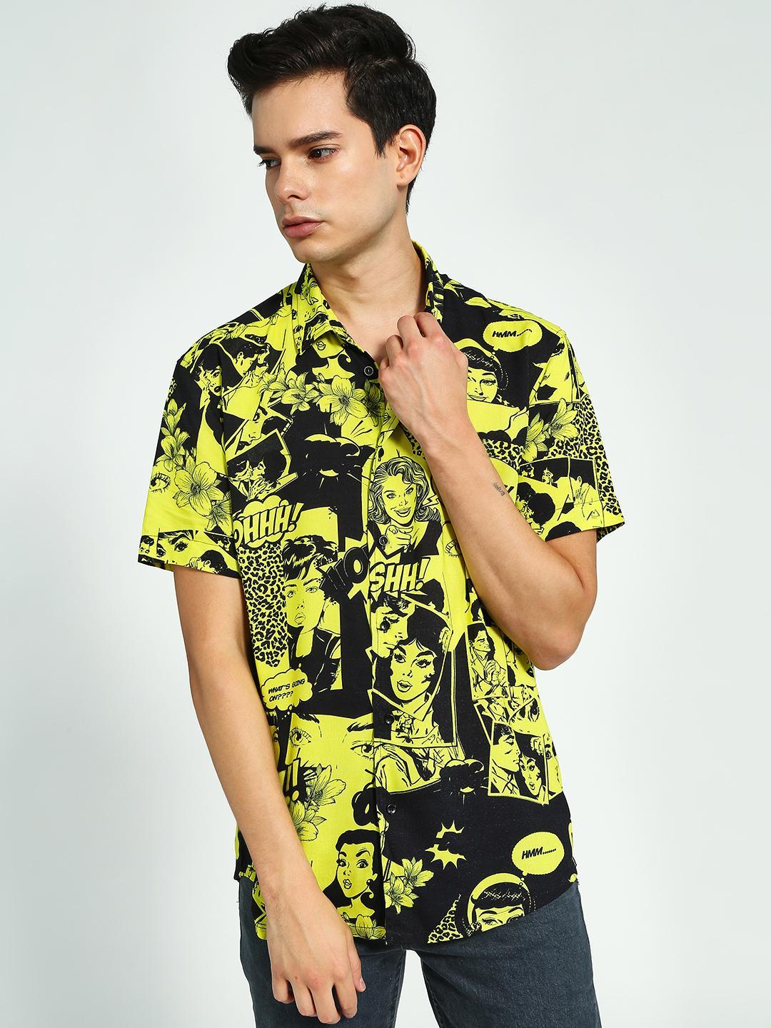 KOOVS Multi Comic Print Short Sleeve Shirt 1