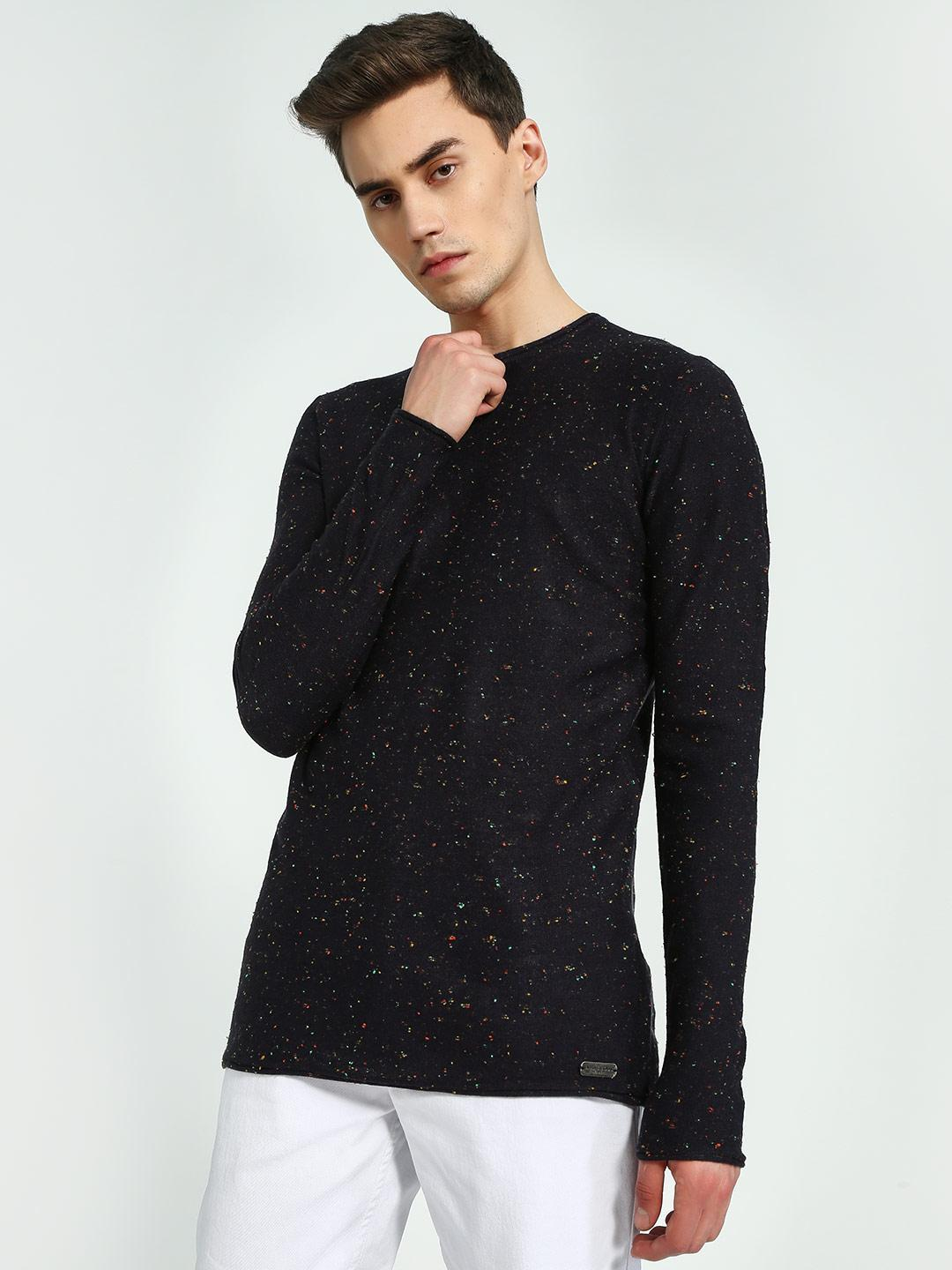 Brave Soul Multi Crew Neck Knitted Pullover 1