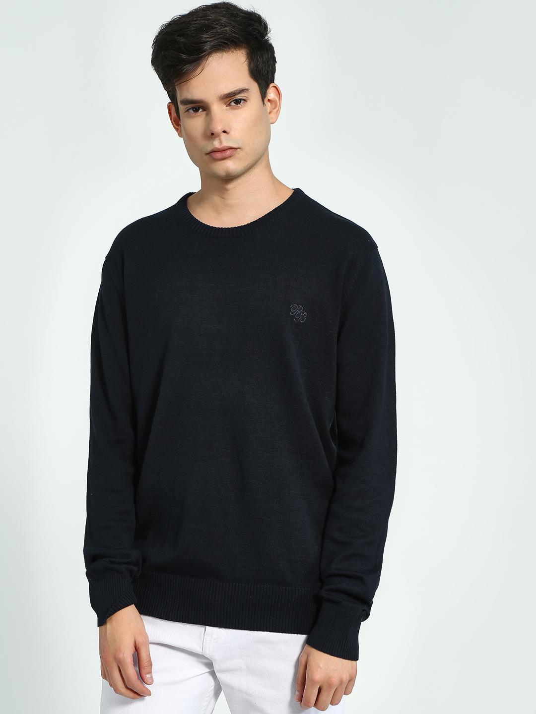 Brave Soul Black Crew Neck Long Sleeve Sweater 1