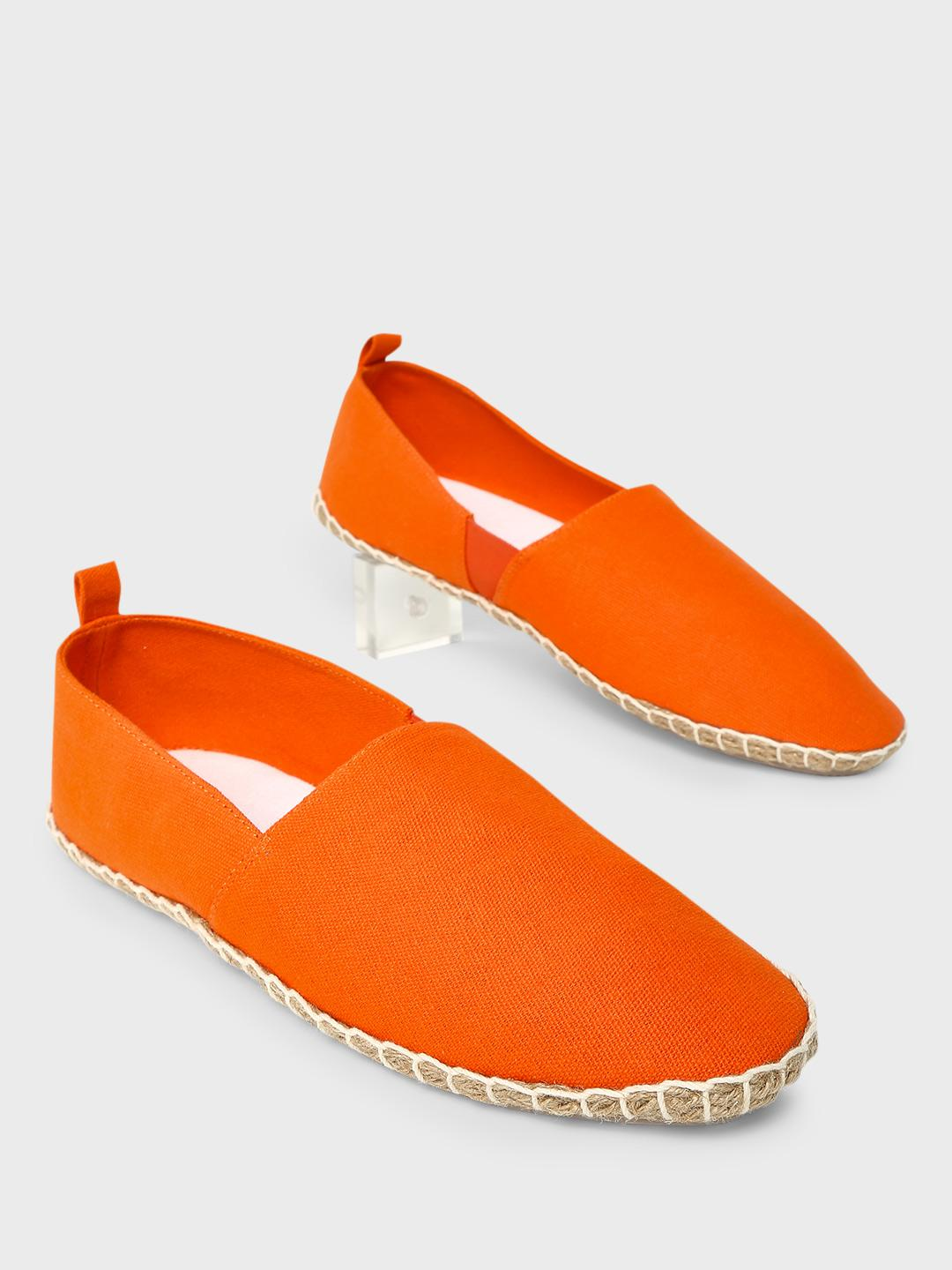 KOOVS Orange Basic Slip-On Espadrilles 1