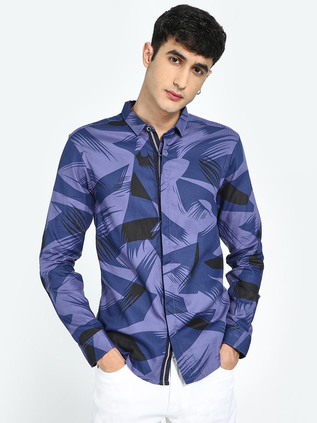 TRUE RUG Multi Abstract Print Shirt 1