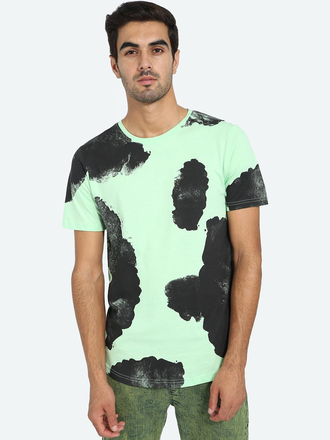 Kultprit Multi Abstract Print Crew Neck T-Shirt 1