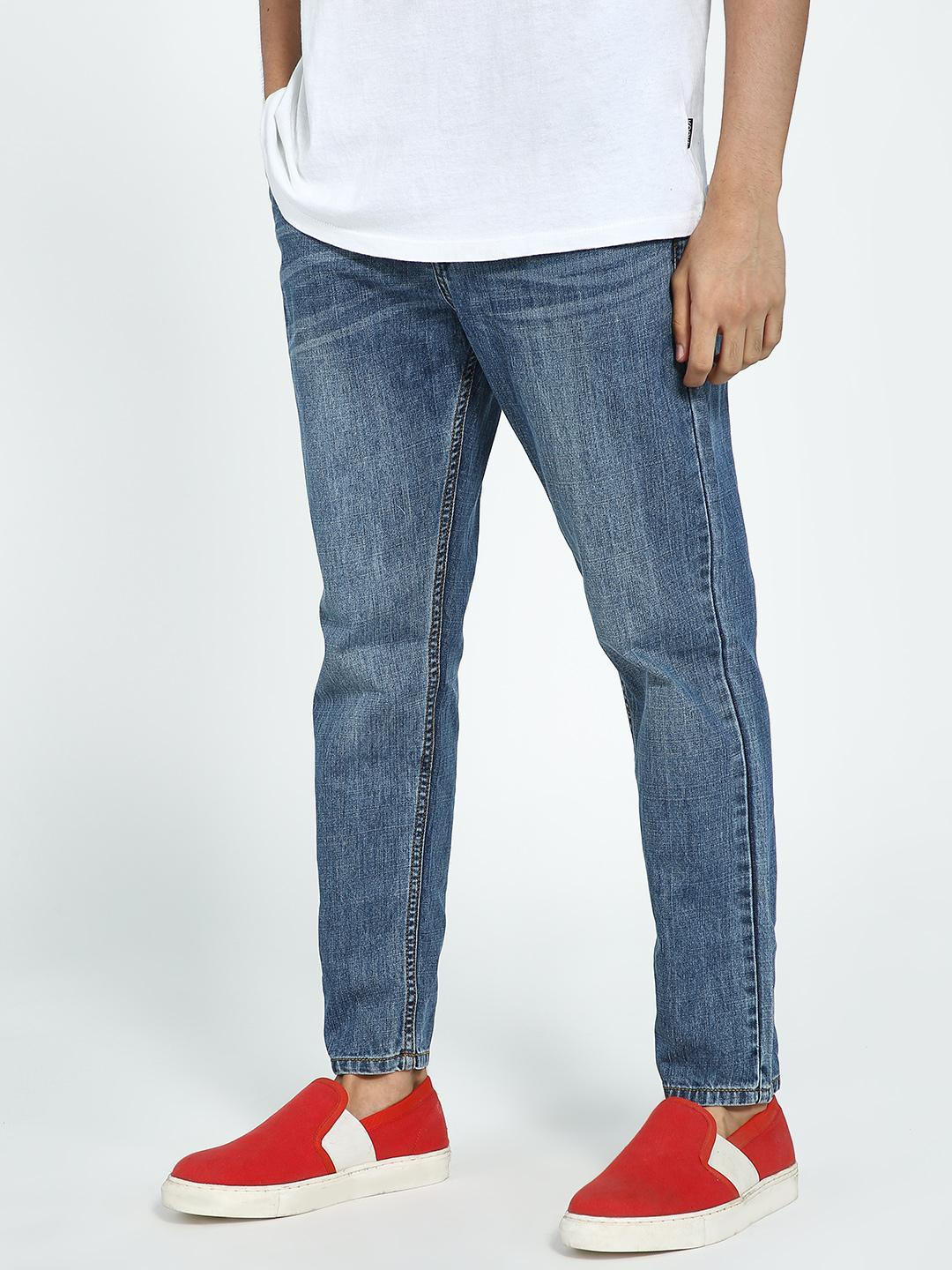 REALM Blue Mid Wash Slim Jeans 1