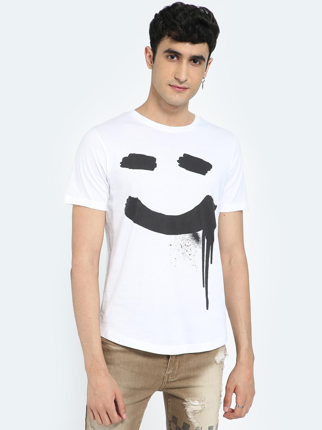 IMPACKT White Smile Graphic Placement Print T-Shirt 1