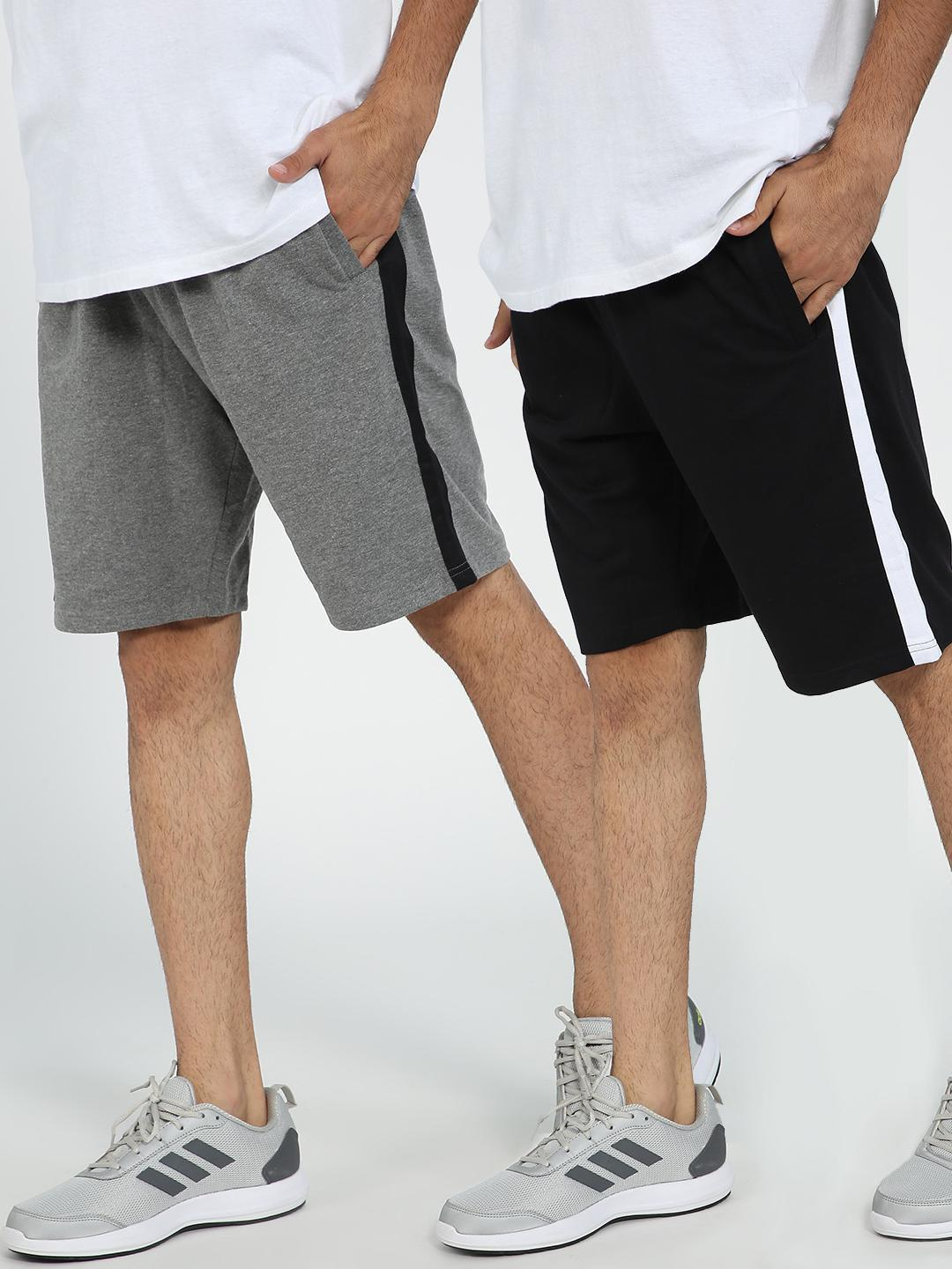 Blue Saint Contrast Side Tape Drawcord Shorts  Pack Of 2