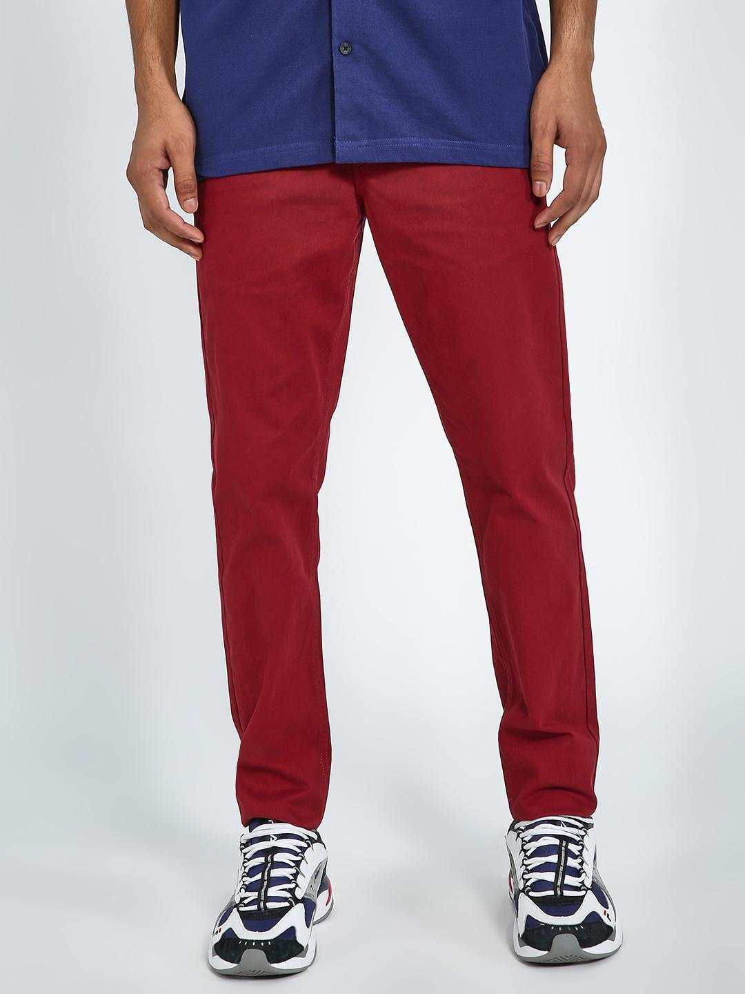 Blue Saint Red Basic Slim Fit Trousers 1