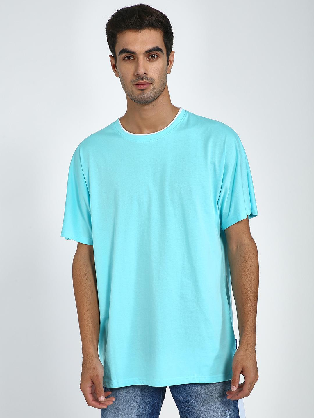 Blue Saint Blue Oversized Round Neck T-shirt 1