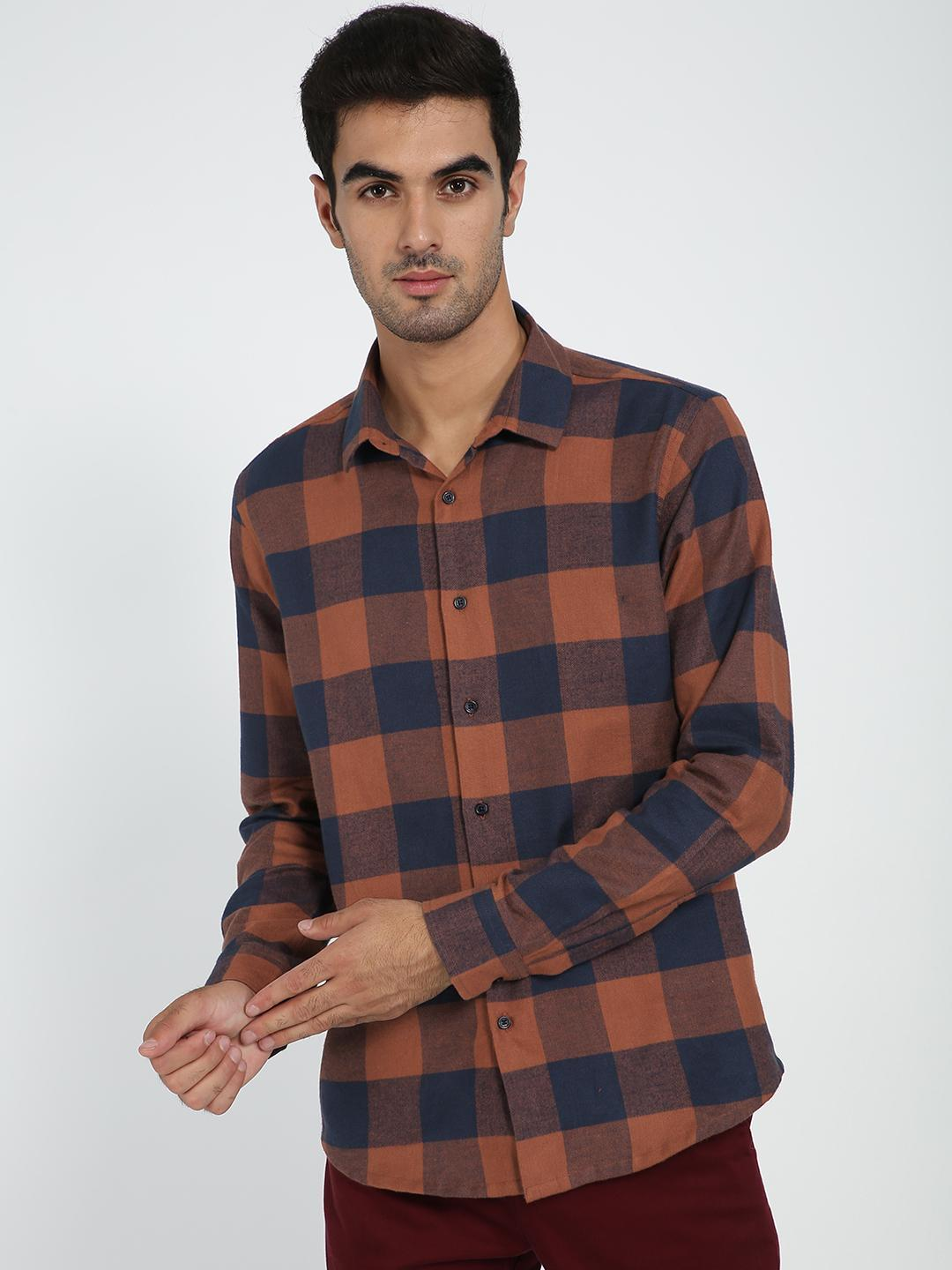 TRUE RUG Multi All Over Check Flannel Shirt 1