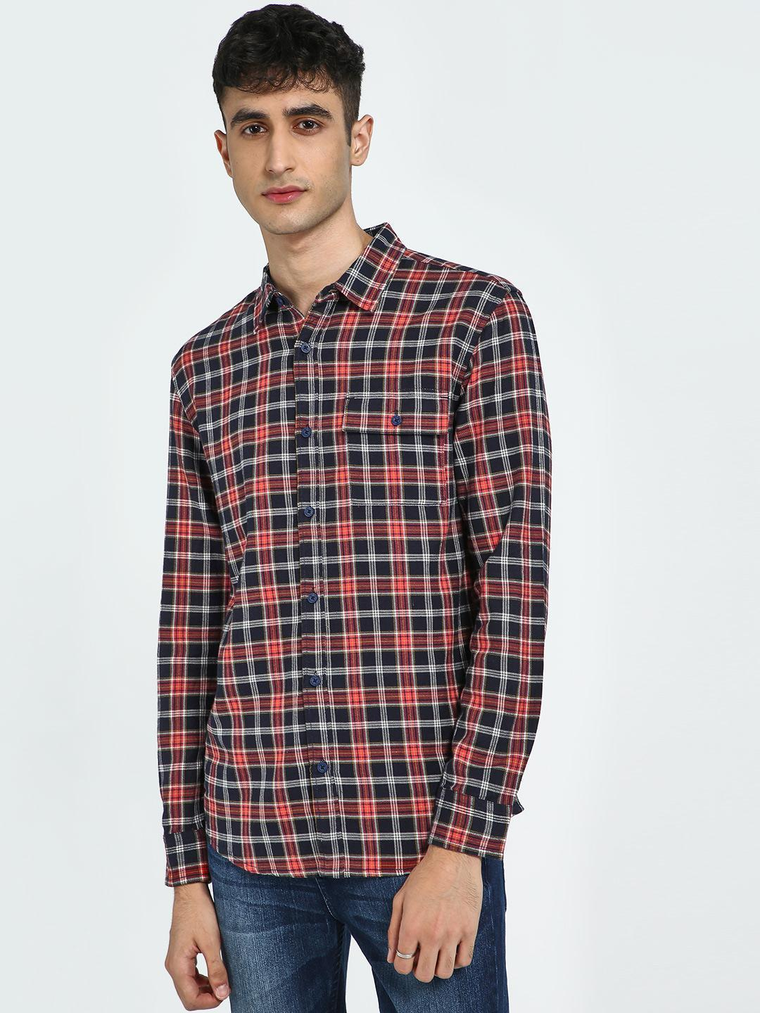 Blue Saint Multi Plaid Check Long Sleeve Shirt 1