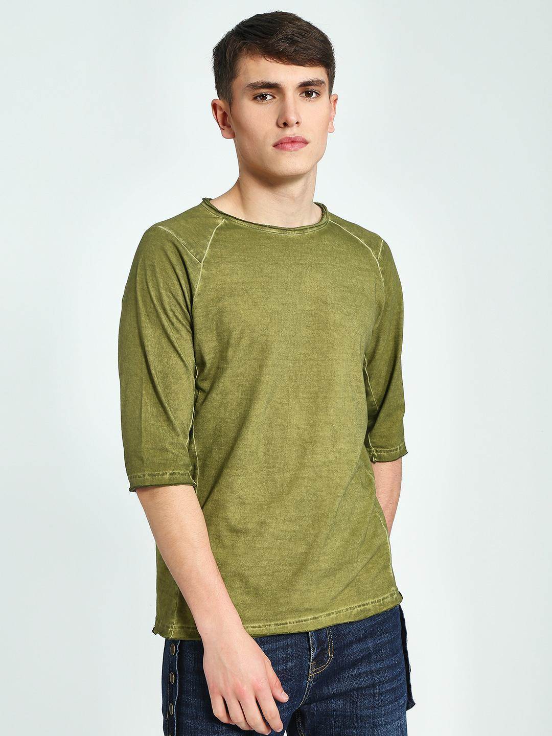 Blue Saint Olive Crew Neck Raglan T-Shirt 1